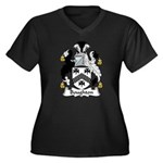 Boughton Family Crest Women's Plus Size V-Neck Dar