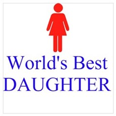 World's Best DAUGHTER Canvas Art