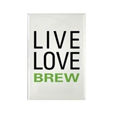 Live Love Brew Rectangle Magnet