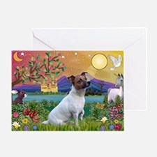 Fantasy Land & Jack Russell Terrier Greeting Card
