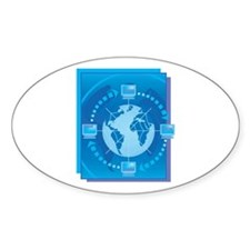 Digital World Oval Decal