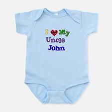 I LOVE MY UNCLE JOHN Infant Bodysuit