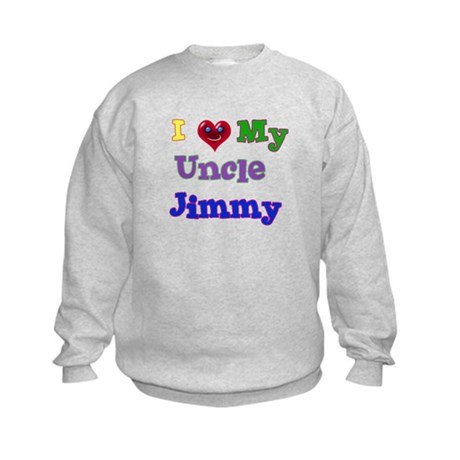 I LOVE MY UNCLE Kids Sweatshirt