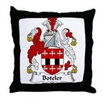 Boteler Family Crest Throw Pillow