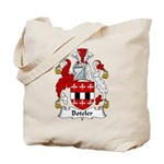 Boteler Family Crest Tote Bag