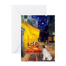 Terrace Cafe & Jack Russell Greeting Card