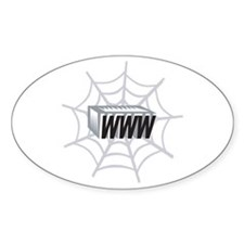 Web Page Oval Decal