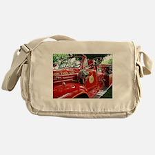 red fire engine 1 Messenger Bag