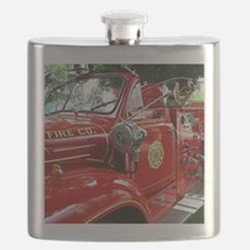 red fire engine 1 Flask