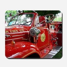 red fire engine 1 Mousepad
