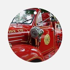 red fire engine 1 Ornament (Round)