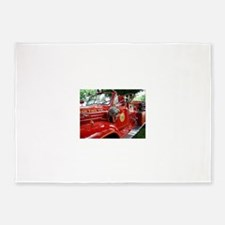 red fire engine 1 5'x7'Area Rug