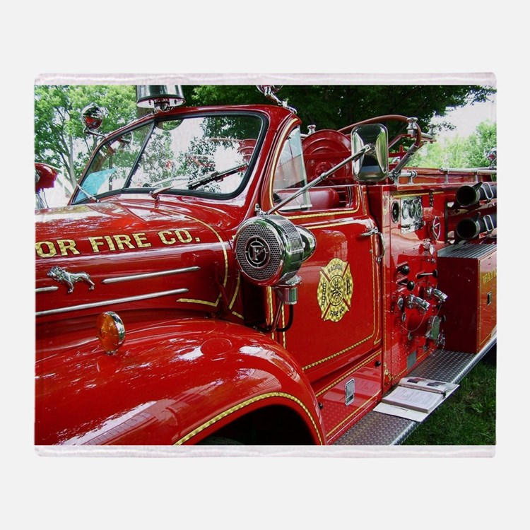 red fire engine 1 Throw Blanket