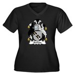 Borlase Family Crest Women's Plus Size V-Neck Dark