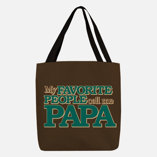 My Favorite People Call Me Papa Polyester Tote Bag