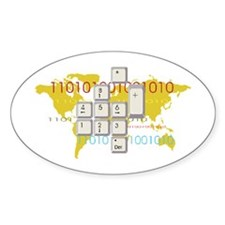 World Wide Web Oval Decal