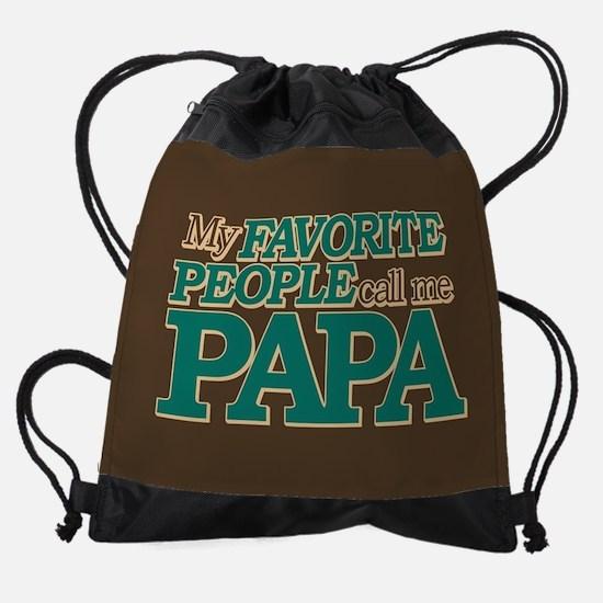 My Favorite People Call Me Papa Drawstring Bag