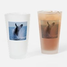 whale jumping Drinking Glass