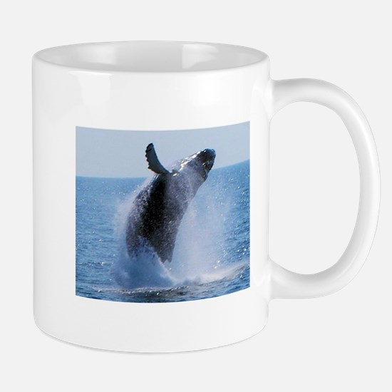 whale jumping Mugs
