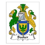 Booker Family Crest Small Poster