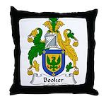 Booker Family Crest Throw Pillow