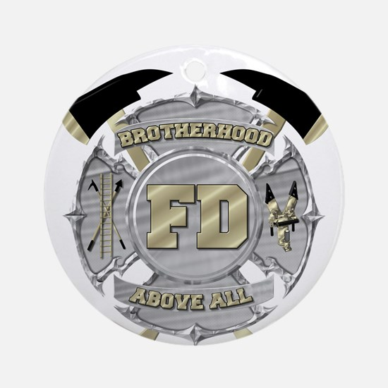 BrotherHood fire service 1 Ornament (Round)