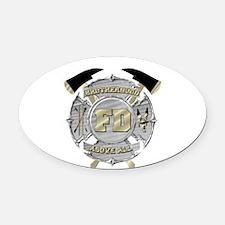 BrotherHood fire service 1 Oval Car Magnet