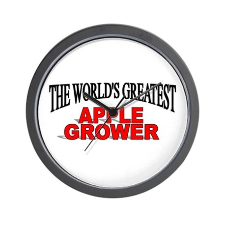 """The World's Greatest Apple Grower"" Wall Clock"