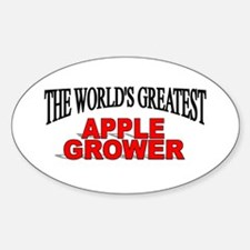 """""""The World's Greatest Apple Grower"""" Oval Decal"""