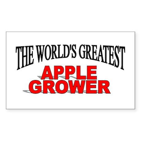 """The World's Greatest Apple Grower"" Sticker (Recta"