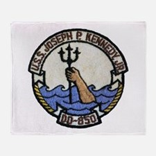 USS JOSEPH P. KENNEDY, JR. Throw Blanket