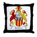 Bonner Family Crest Throw Pillow