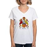 Bonner Family Crest Women's V-Neck T-Shirt