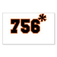 756 Asterisk Rectangle Decal
