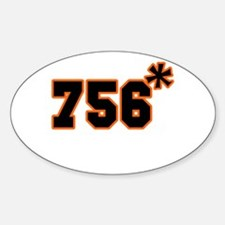 756 Asterisk Oval Decal