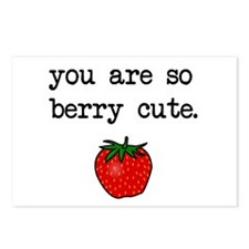 Berry Cute Postcards (Package of 8)