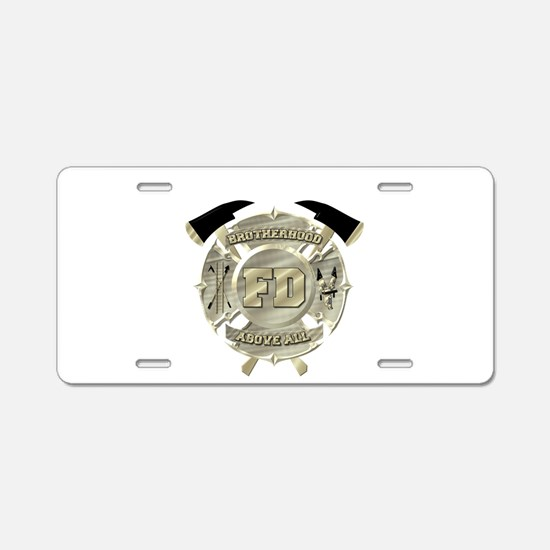 BrotherHood fire service 2 Aluminum License Plate