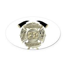 BrotherHood fire service 2 Oval Car Magnet