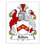 Bolton Family Crest Small Poster