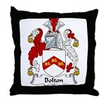 Bolton Family Crest Throw Pillow