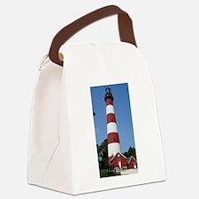 Asateague lighthouse (bright) Canvas Lunch Bag