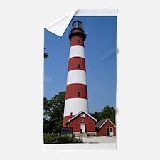 Asateague lighthouse (bright) Beach Towel