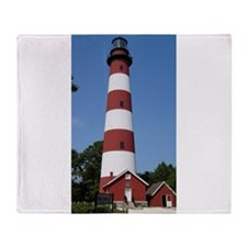 Asateague lighthouse (bright) Throw Blanket