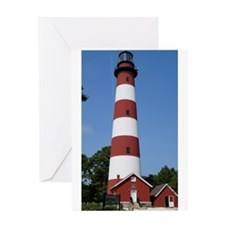 Asateague lighthouse (bright) Greeting Cards