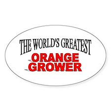"""The World's Greatest Orange Grower"" Decal"