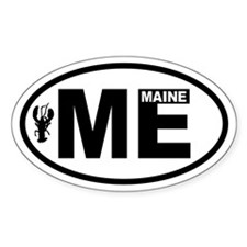 Maine Lobster Oval Decal