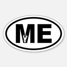 Maine Inset Lobster Oval Decal