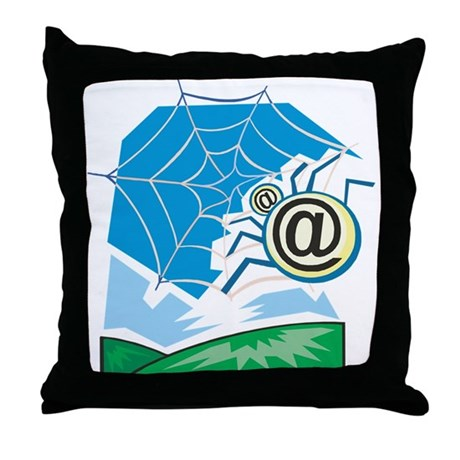 Web World Throw Pillow