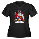 Blisse Family Crest Women's Plus Size V-Neck Dark