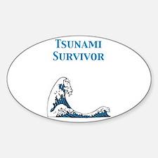 Tsunami Survivor Oval Decal